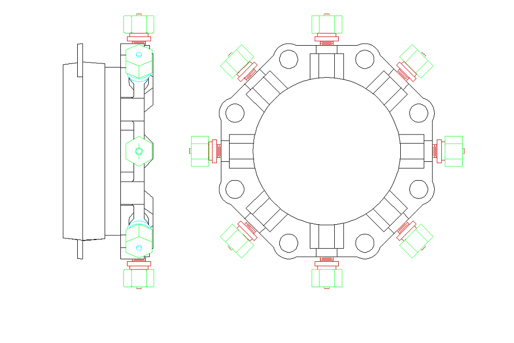 Plans for restrained flange adapter