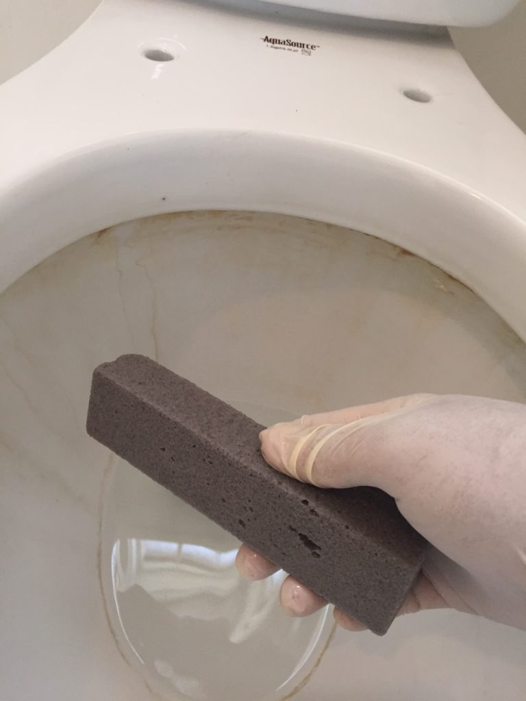 Scour Stick on Toilet