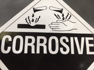 Are Citrus Detergents Safe? Corrosive Sign